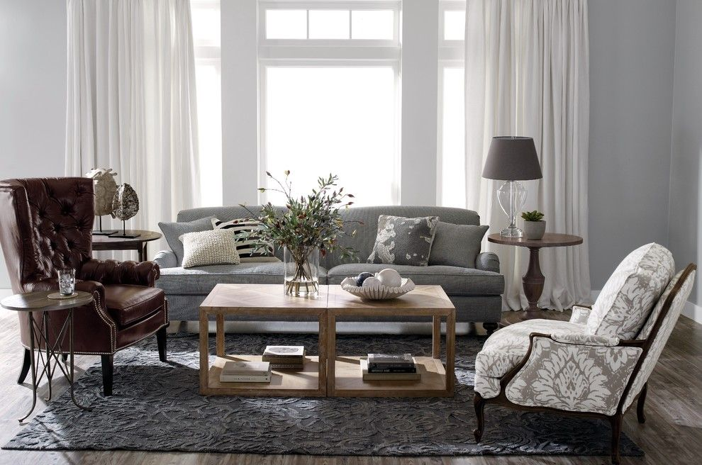 Lees Summit Honda for a Traditional Living Room with a Gray Sofa and Ethan Allen by Ethan Allen