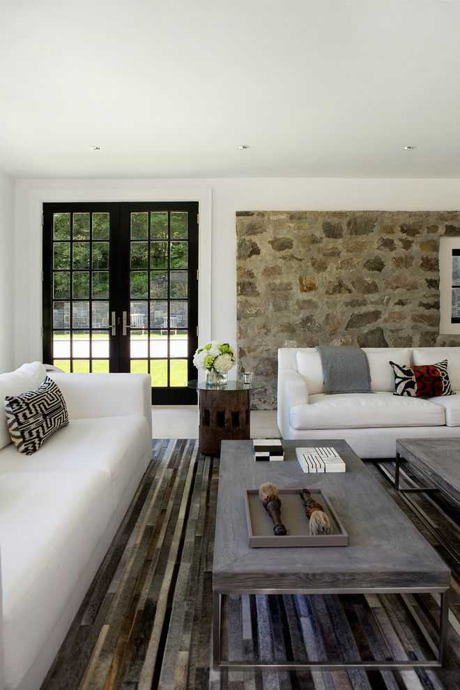 Leland Furniture for a Farmhouse Living Room with a Modern Living and Stanwich Road Residence by Voce Di Id
