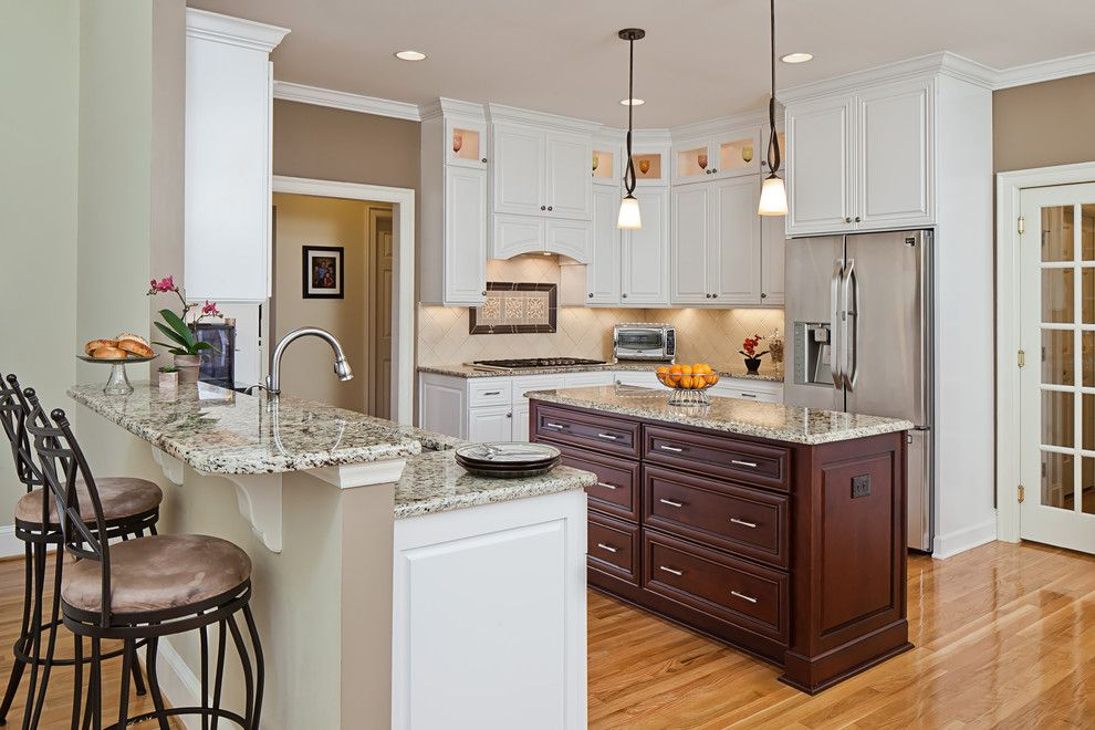 Leland Furniture for a Traditional Kitchen with a Knobs and Pulls and Camilla Drive by Case Design/remodeling