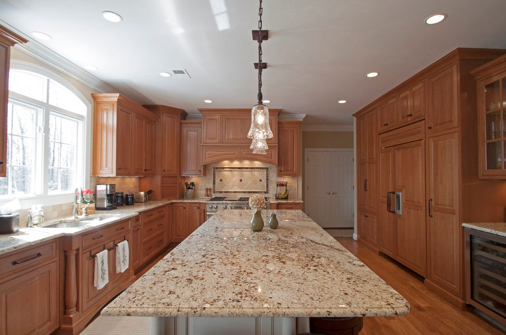 Leland Furniture for a Traditional Kitchen with a Typhoon Cream and Conway Kitchen 5 by Cameo Kitchens, Inc.