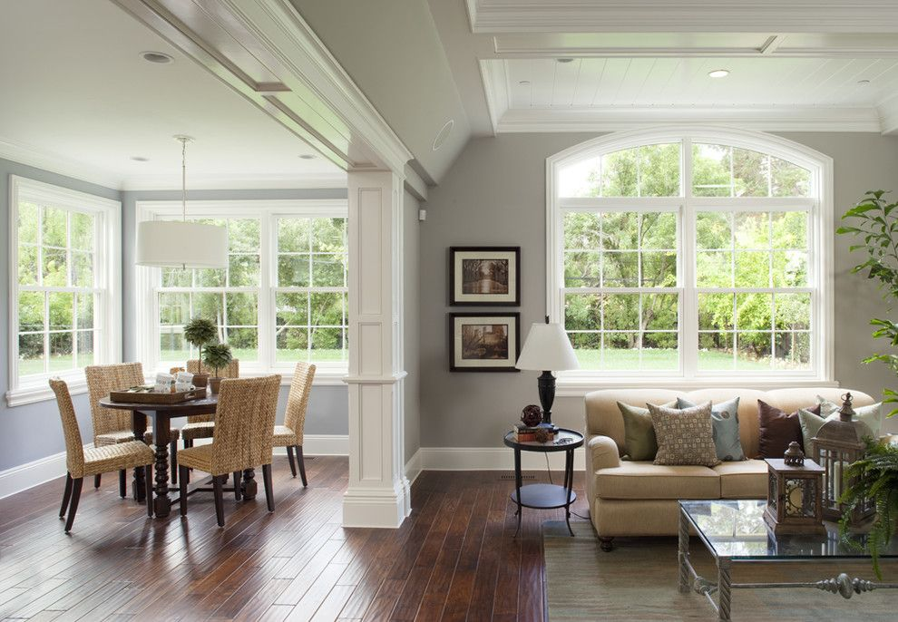 Lemoore Real Estate for a Traditional Family Room with a Gray Walls and Great Room by Arch Studio, Inc.