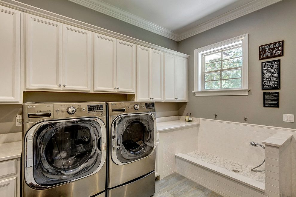 Lemoore Real Estate for a Traditional Laundry Room with a Handshower and 110 Canterbury Circle Niceville, Fl by Emerald Coast Real Estate Photography