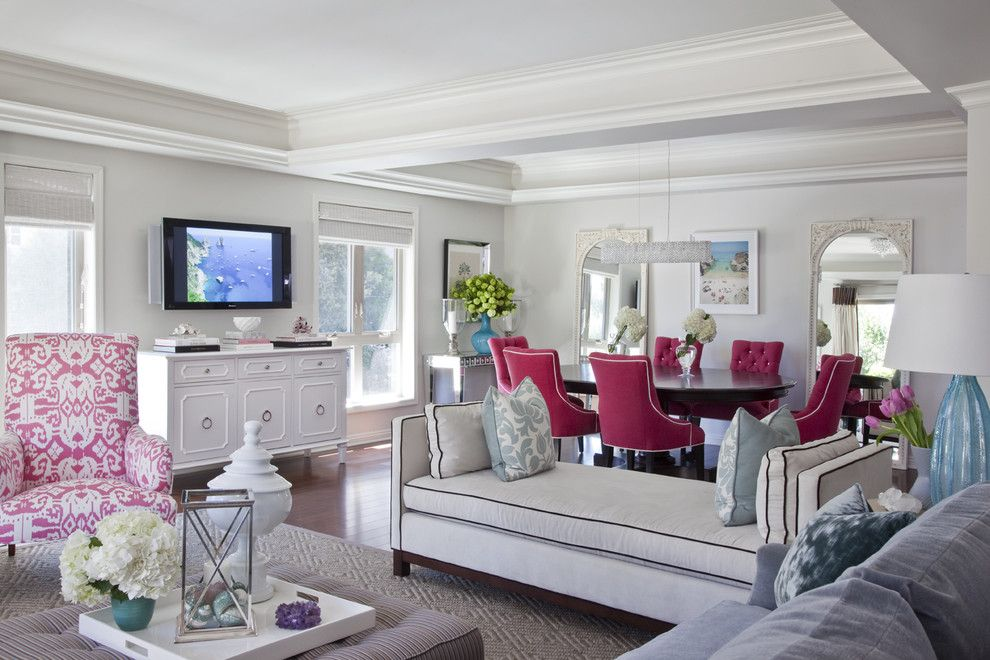 Lemoore Real Estate for a Traditional Living Room with a Tufted Dining Chairs and Emily Ruddo Design by Emily Ruddo