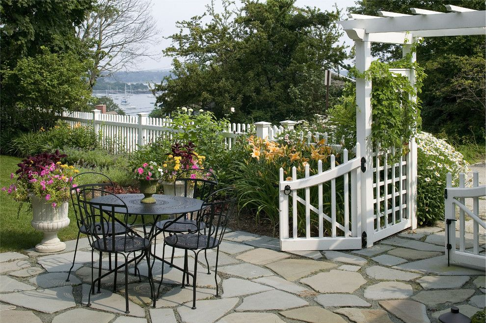 Lencioni for a Beach Style Patio with a Urns and Coastal Knoll   Hingham, Ma by Sean Papich Landscape Architecture