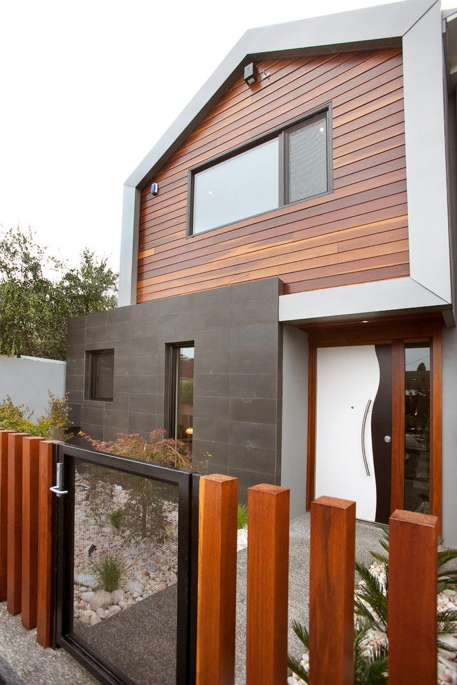 Lencioni for a Contemporary Exterior with a Glass Gate and Henry St Windsor by Platinum Building Group