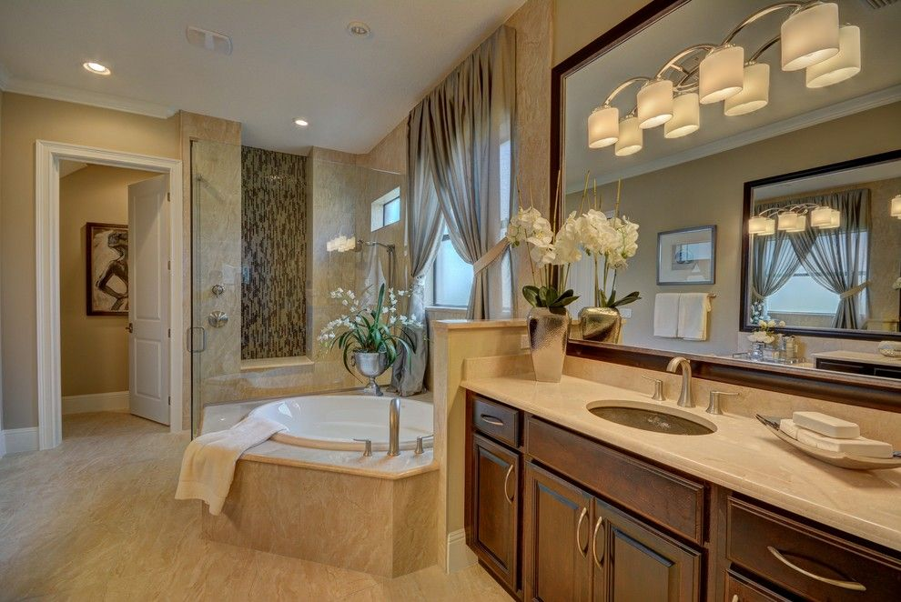Lennar Homes Florida for a Transitional Bathroom with a Bellagio Homes and Ravello Ii by Bellagio Custom Homes Llc