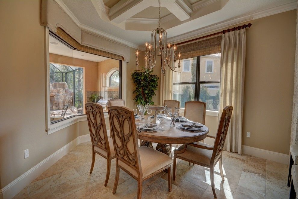 Lennar Homes Florida for a Transitional Dining Room with a Building a Custom Home and Ravello Ii by Bellagio Custom Homes Llc
