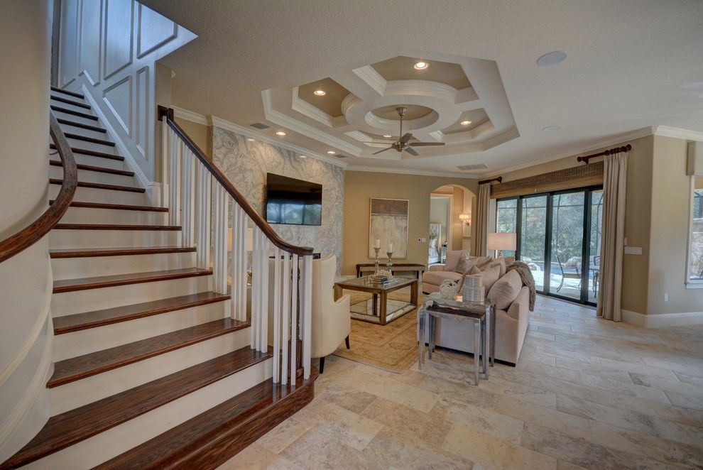 Lennar Homes Florida for a Transitional Family Room with a Home Builders in Flagler County and Ravello Ii by Bellagio Custom Homes Llc