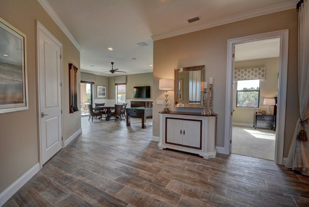 Lennar Homes Florida for a Transitional Hall with a Large Custom Homes and Ravello Ii by Bellagio Custom Homes Llc