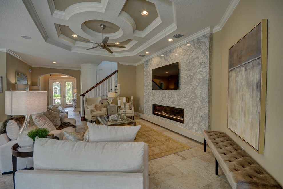 Lennar Homes Florida for a Transitional Living Room with a Building a Custom Home and Ravello Ii by Bellagio Custom Homes Llc