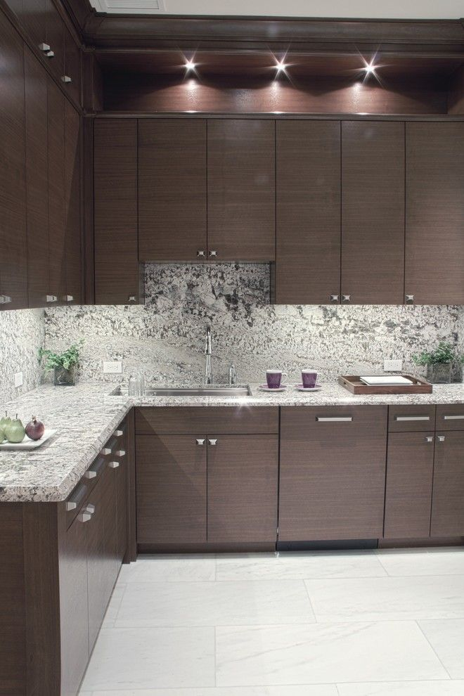 Lennar Homes Miami for a Contemporary Kitchen with a Delicatus Countertops and Backsplash and Queenferry House by Hollub Homes
