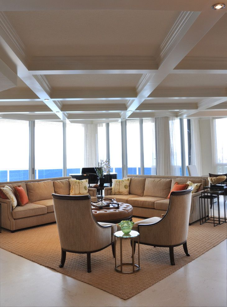 Lennar Homes Miami for a Traditional Living Room with a Luces Empotradas and Fort Lauderdale Apartment, British West Indies by Causa Design Group