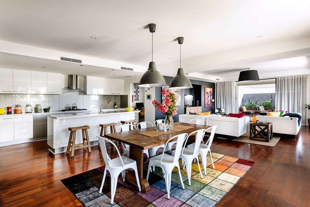 Lennar Homes Reviews for a Contemporary Dining Room with a Black Pendant Light and North Coogee by Collected Interiors