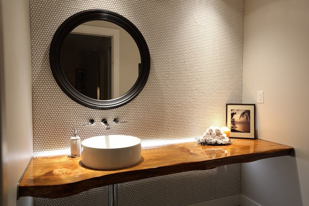 Lennar Homes Reviews for a Contemporary Powder Room with a Lighting and Meadfeild by Blackfish Homes Ltd.