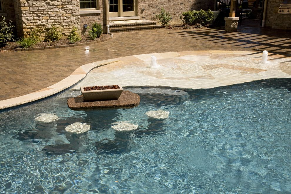 Lettuce Entertain You Restaurants Chicago for a Tropical Pool with a Fire Features and Rosebrook Pools, Inc. by Rosebrook Pools, Inc.
