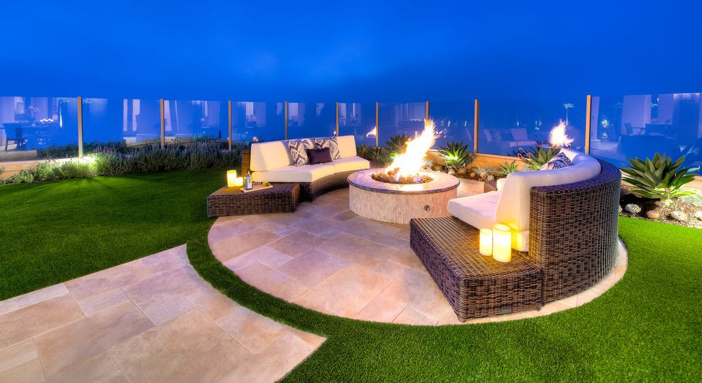 Levin Furniture Locations for a Contemporary Patio with a Contemporary and Newport Coast Contemporary by Studio H Landscape Architecture