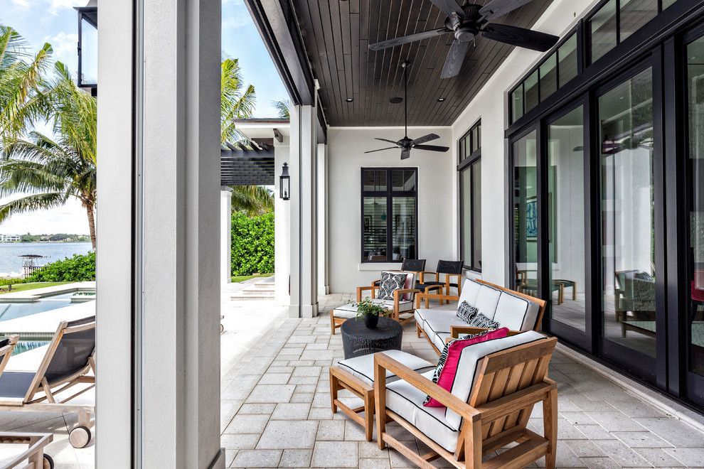 Levin Furniture Locations for a Contemporary Patio with a Outdoor Ceiling Fan and Coastal Contemporary by Joy R. Dabill Interior Design