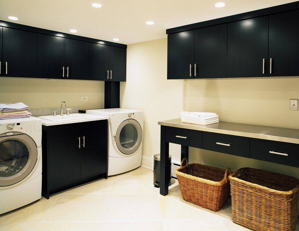 Lexus Woodland Hills for a Contemporary Laundry Room with a Door Handles and Barrington Hills Laundry Room by Kitchens & Baths Unlimited
