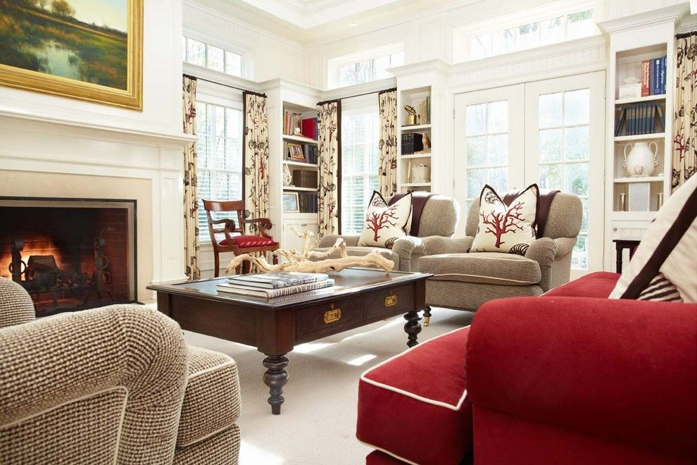 Lexus Woodland Hills for a Traditional Family Room with a French Doors and Greenfield Hill Residence by Tiffany Eastman Interiors, Llc