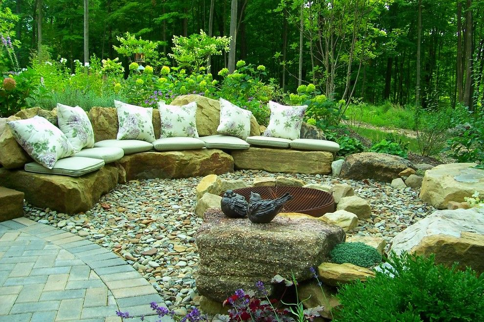 Lexus Woodland Hills for a Traditional Patio with a Ledgestone and Color Amidst a Woodland by Healy Design Inc.
