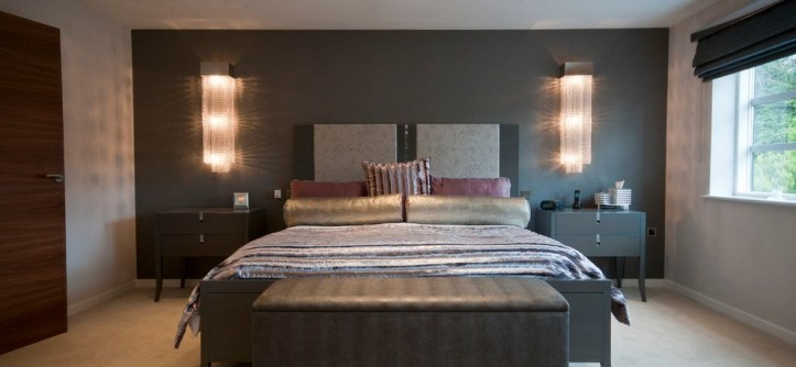 Light Bulb Depot for a Contemporary Bedroom with a Lana and Contemporary Property in Cheshire by Svetlana Filippova Art & Design