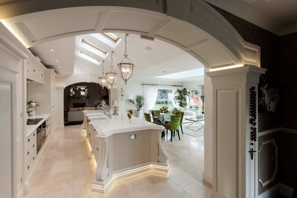 Light Bulb Depot for a Traditional Kitchen with a Vaulted Ceiling and Newton Mumbles 2012 by Heaven & Stubbs Bespoke Furniture Ltd