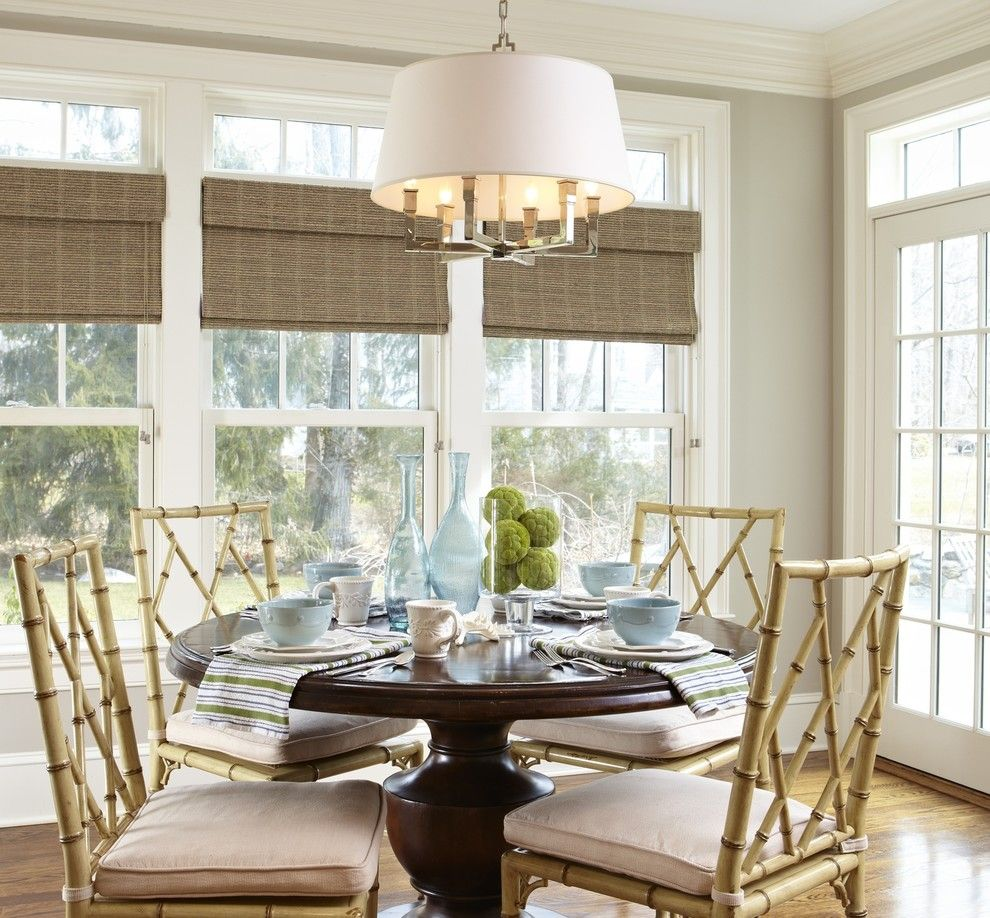 Lightbright for a Beach Style Dining Room with a Beach Style and My Work by Patty Carmody Interiors