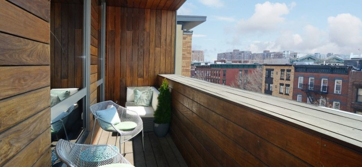 Lightolier for a Contemporary Balcony with a Small Patio and Fab 2 Bedroom in Hoboken's Premier Green Buidling by Hudson Place Realty