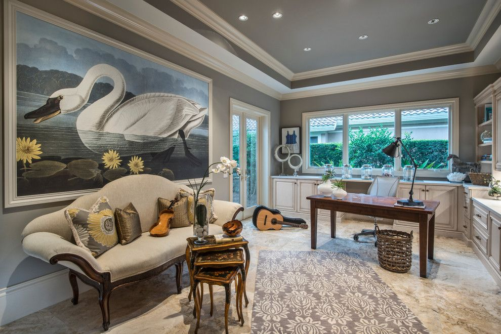Lillians for a Mediterranean Home Office with a Recessed Lighting and Mediterra Remodel, Naples, Fl by Harwick Homes