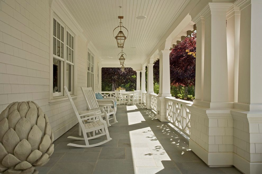 Lillians for a Traditional Porch with a Painted Patio Furniture and Monte Sereno Residence Ii by Mehus Construction