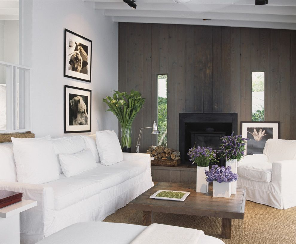 Lillys for a Modern Living Room with a Armchair and Fire Island Residence   Long Island by Bruce Bierman Design