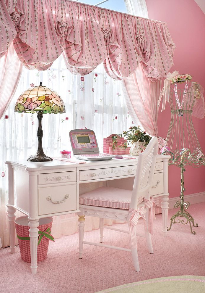 Lillys for a Traditional Kids with a Balloon Valance and Fairytale Bedroom by Sheila Rich Interiors, Llc
