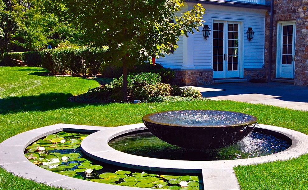 Lillys for a Traditional Landscape with a Water Feature and Howard Roberts by Liquidscapes