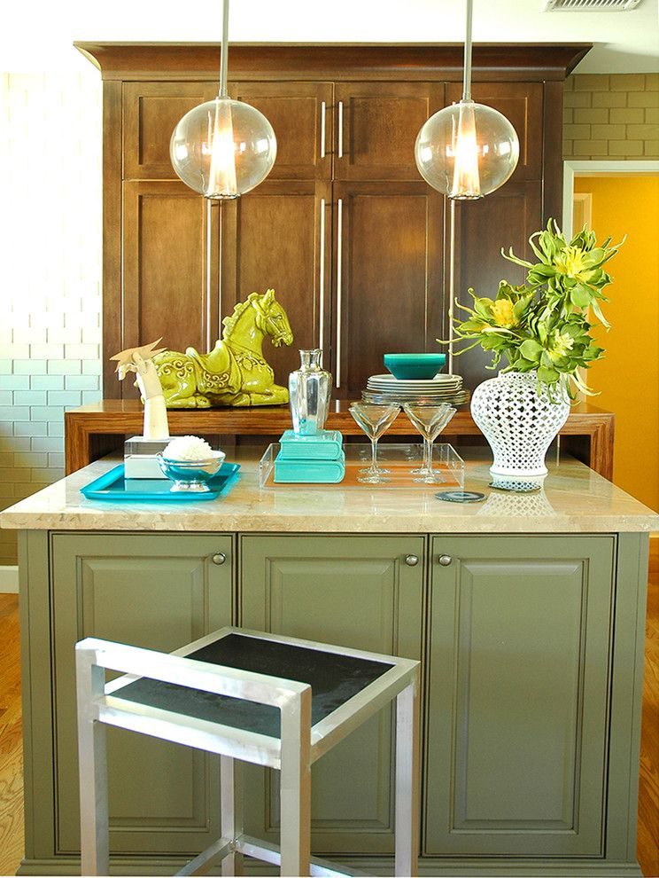 Lime Green Stool for a Contemporary Kitchen with a Cabinets and Long Beach Contemporary Kitchen by Benedict August