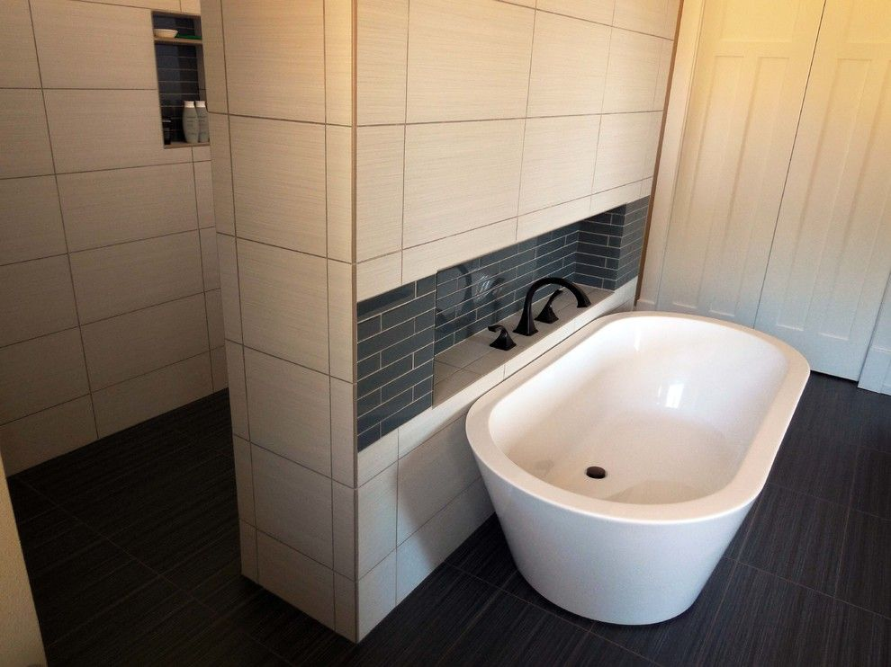 Linon for a Craftsman Bathroom with a Greene and Greene Style and Lake Bungalow by Yourpictureperfect
