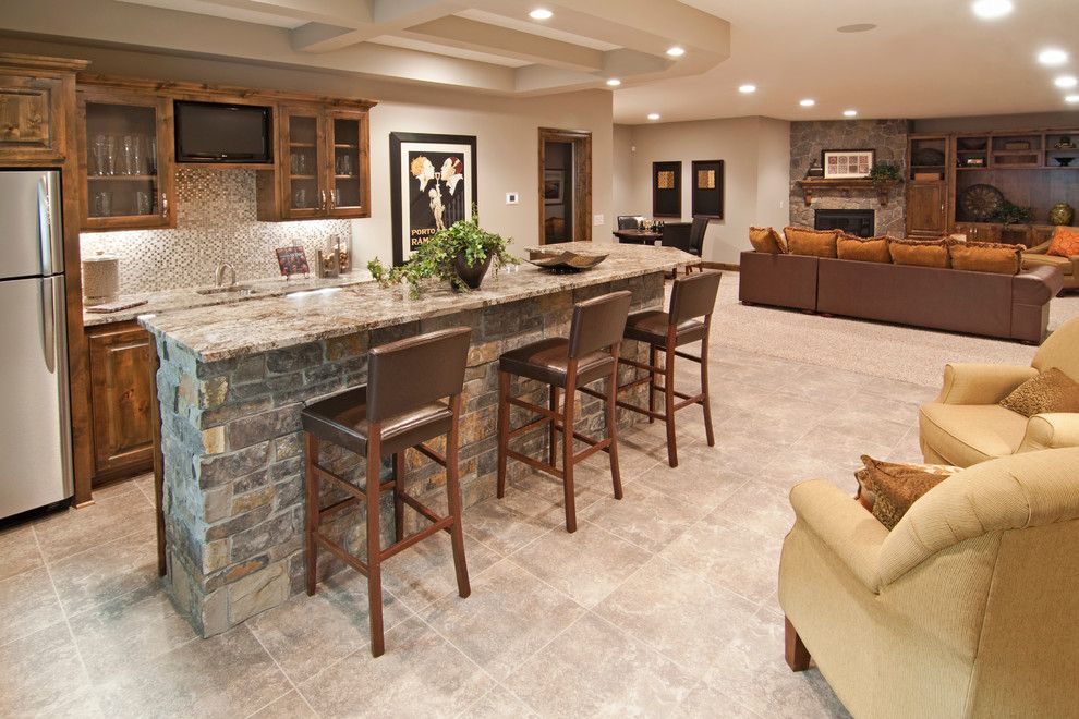Linon for a Traditional Basement with a Traditional and Basement by 360 Vip Photography