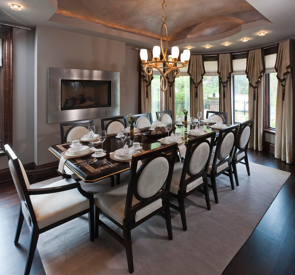 Lionsgate Homes for a Contemporary Dining Room with a Decorator and Home on the Water by Lionsgate Design