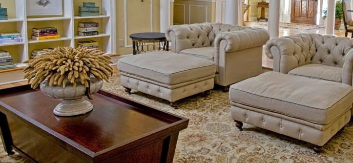 Litin Paper for a Transitional Living Room with a Transitional and Living Room by K. D. Ellis Interiors