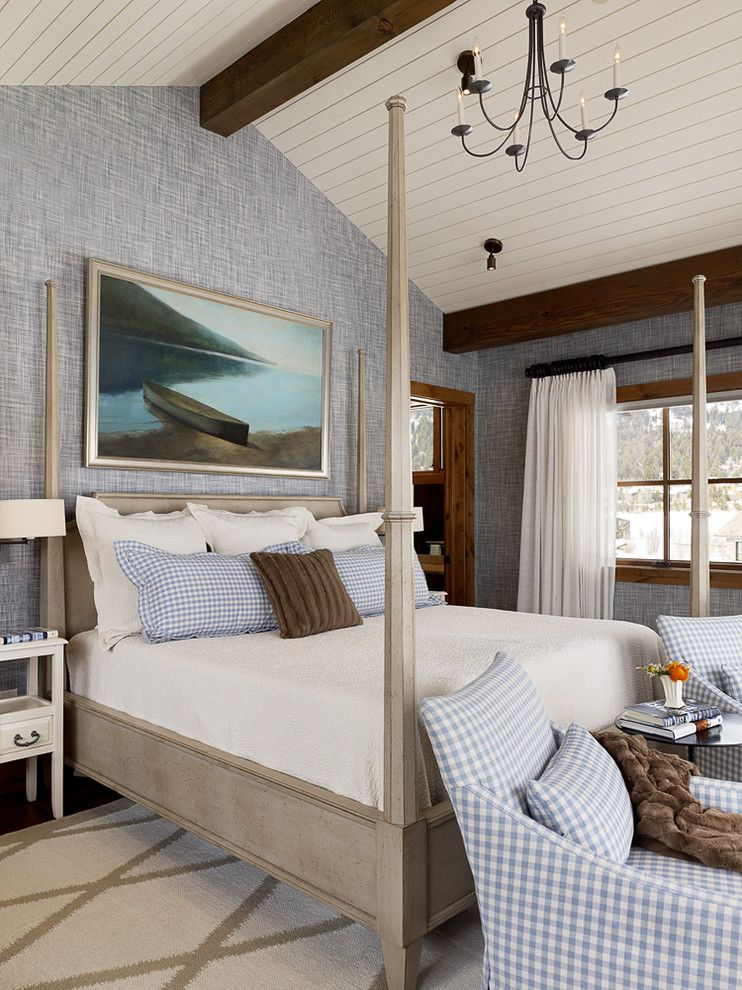 Livex for a Farmhouse Bedroom with a Gingam and Shooting Star Residence by Teton Heritage Builders