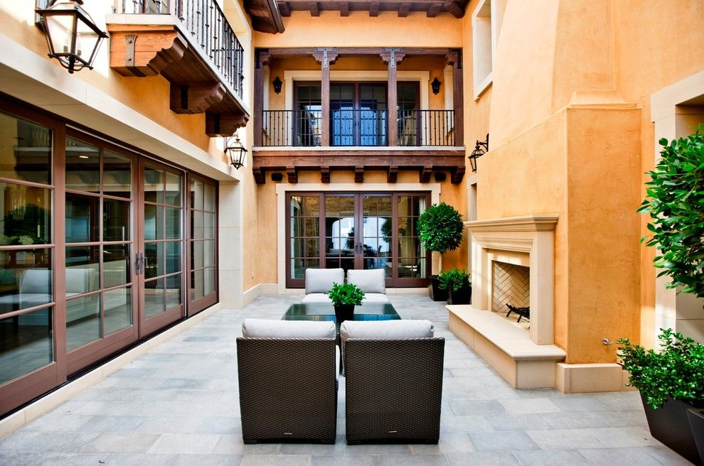 Livex for a Mediterranean Patio with a Mansion and Mediterranean Patio by Palandsmith.com