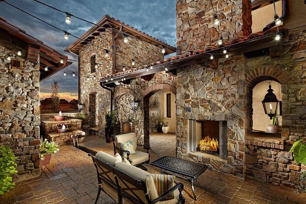 Livex for a Mediterranean Patio with a String Lights and Salazar Residence by KGA Studio Architects, PC
