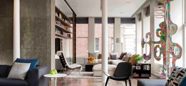 Living at Noho for a Eclectic Living Room with a Eclectic and Bond Street Loft by Axis Mundi