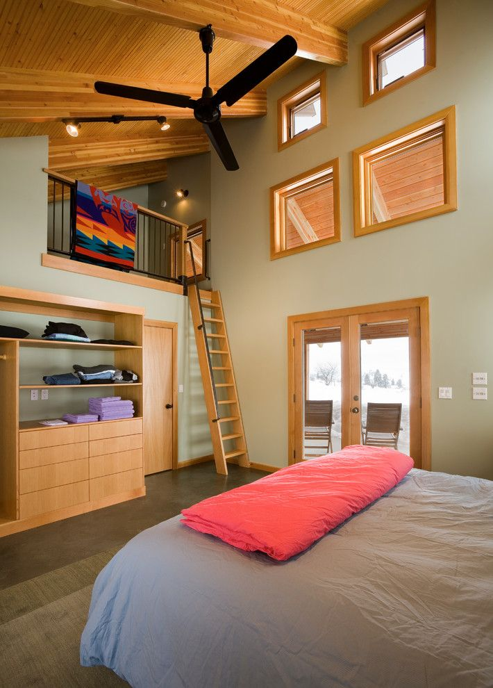 Lofting for a Contemporary Bedroom with a Wood Ceiling Beams and Contemporary Bedroom by Lawrencearchitecture.com