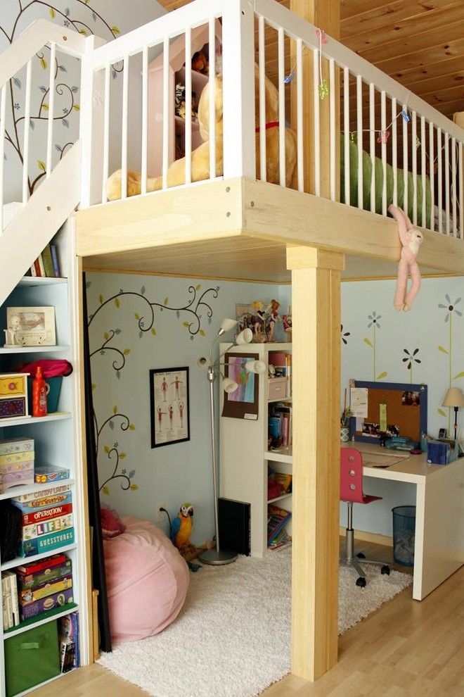 Lofting for a Contemporary Kids with a Built Ins and Girl's Loft by Chic Redesign