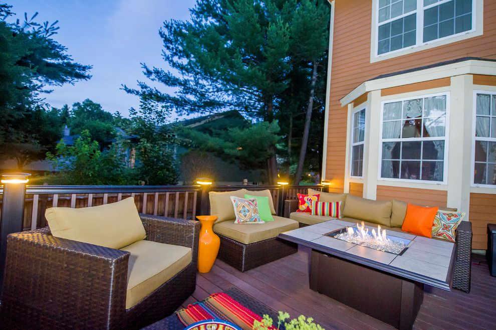 Lone Star Bbq For A Contemporary Deck With A Gas Fireplaces And Patios And  Decks By