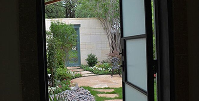 Lone Star Bbq for a Modern Entry with a Modern and Modern Series by Lone Star Iron Doors