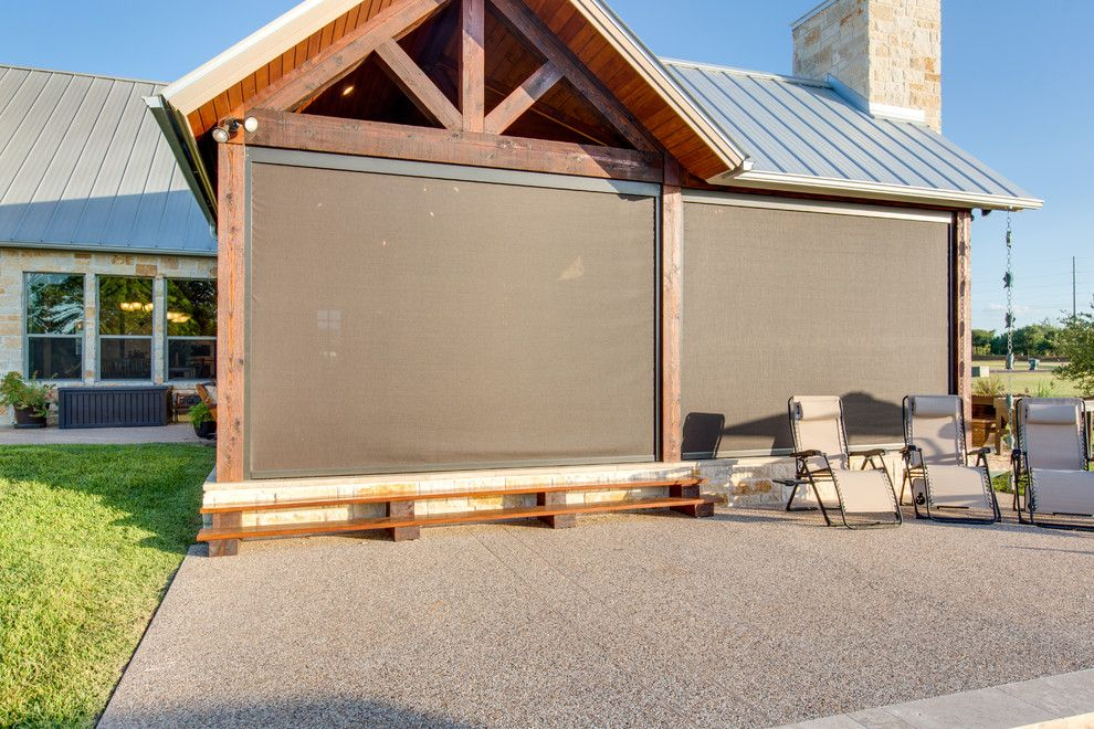 Lone Star Bbq for a  Spaces with a  and Screens   Motorized by Lone Star Patio and Outdoor Living