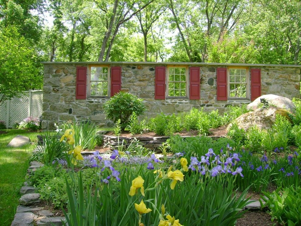 Longview Lawn and Garden for a Rustic Landscape with a Grass and Secret Garden by Slater Associates Landscape Architects