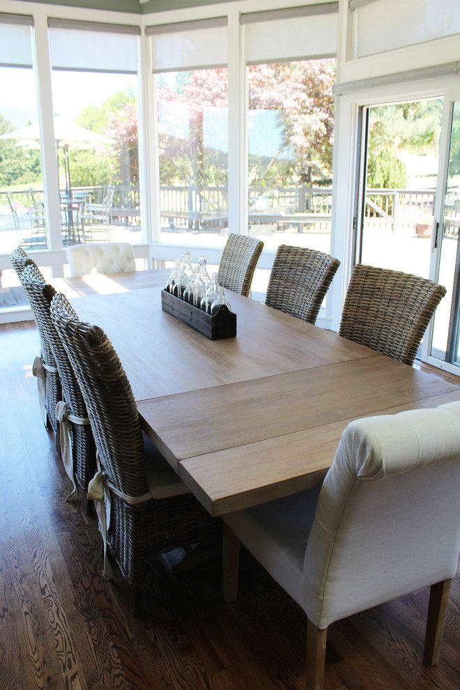 Los Gatos Lodge for a Rustic Dining Room with a Furniture and Hudson Extension Table by Harvest Furniture