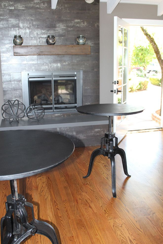 Los Gatos Lodge for a Rustic Dining Room with a Furniture Showroom and Industrial Crank Table by Harvest Furniture